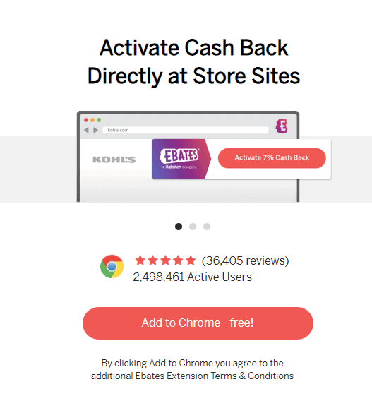 Ebates Chrome Plugin