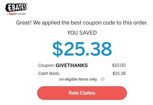 ebates coupon magic applied