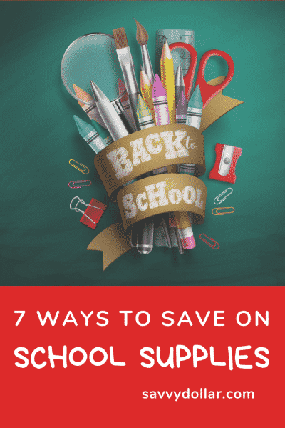 ways to save on school supplies